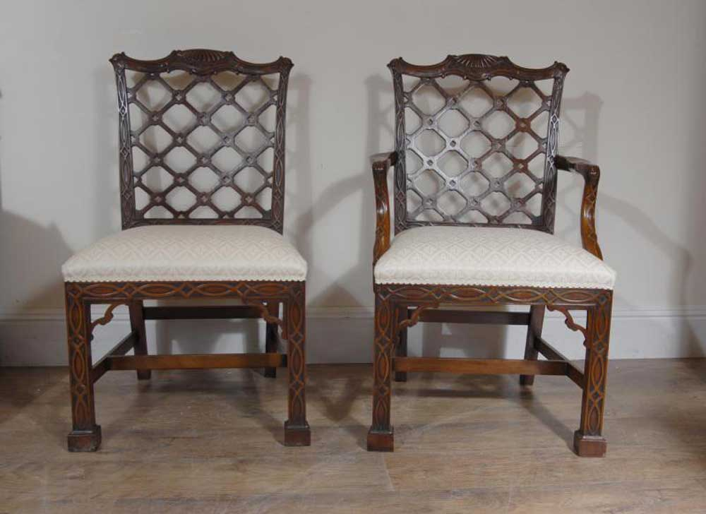 Chippendale Chairs Part - 45: Chippendale Dining Chairs - Set 10 Mahogany Gothic Diner Chair | EBay