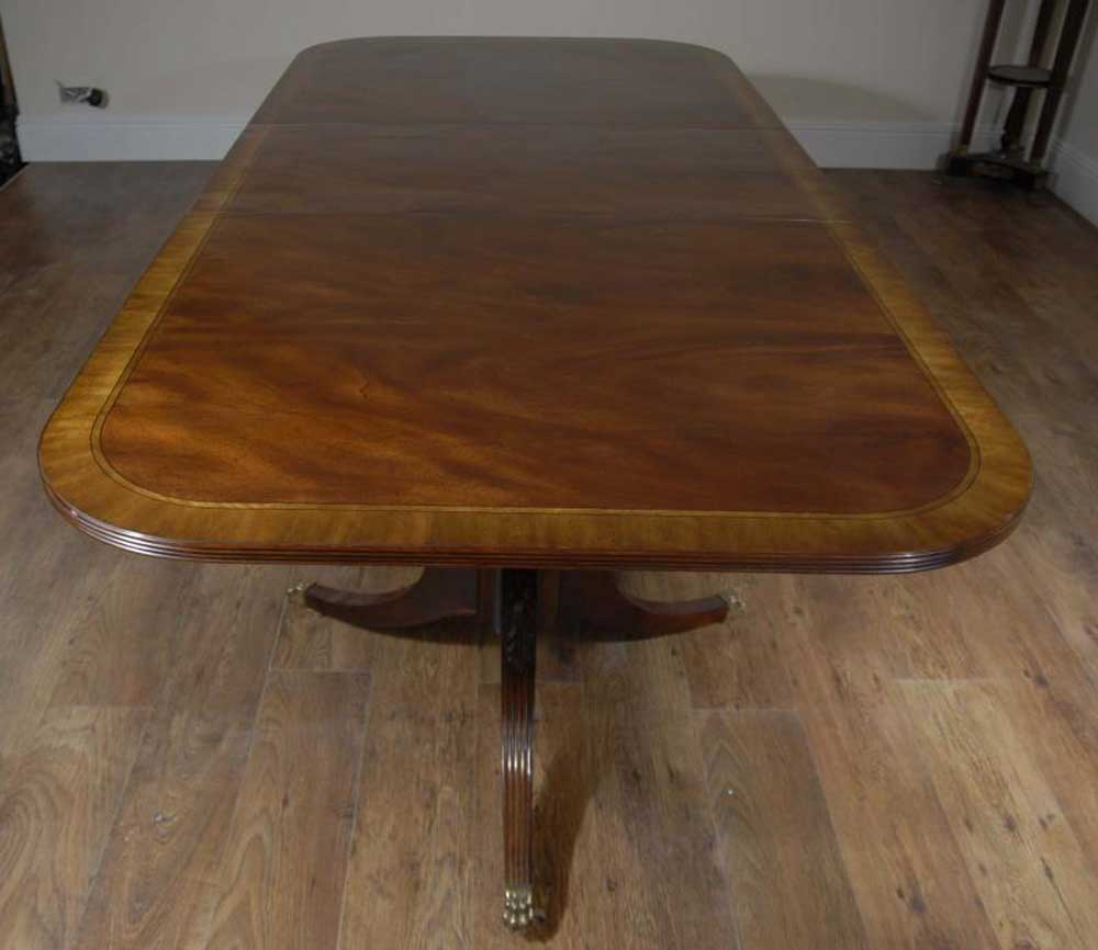10 Seater English Regency Pedestal Dining Table