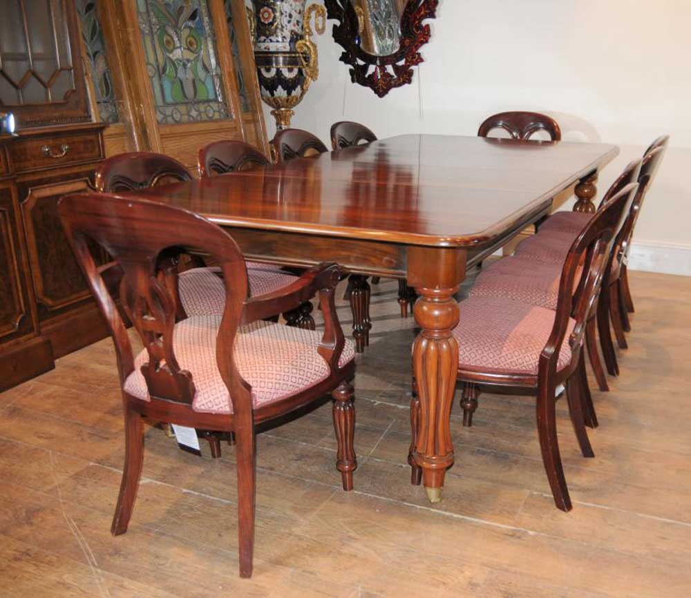 Victorian Dining Room Table: 10 Victorian Balloon Back Dining Chairs Diners