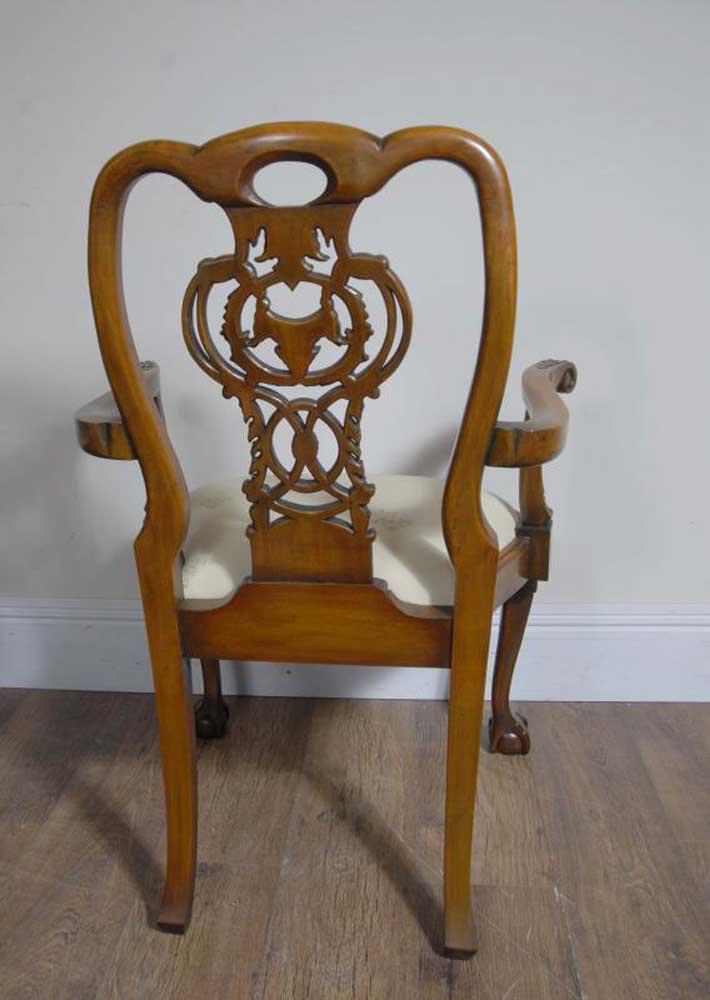 10 Walnut English George Ii Dining Chairs Chair Set Carver