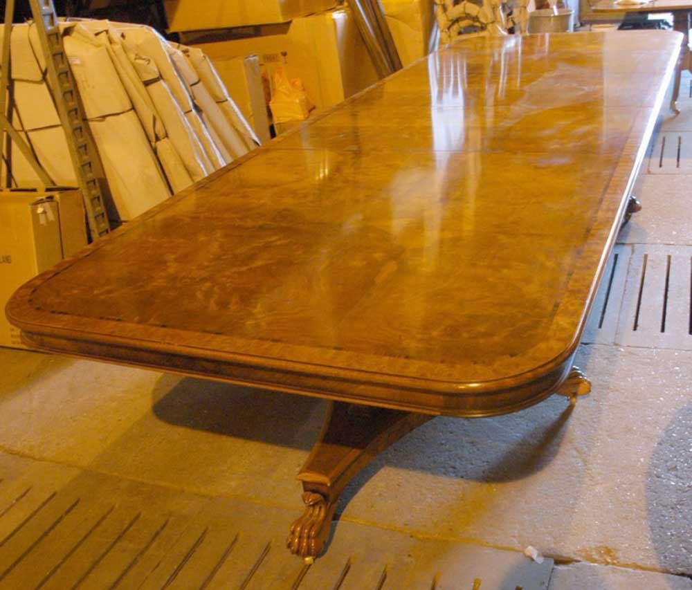 12 Foot English George Iii Walnut Dining Table