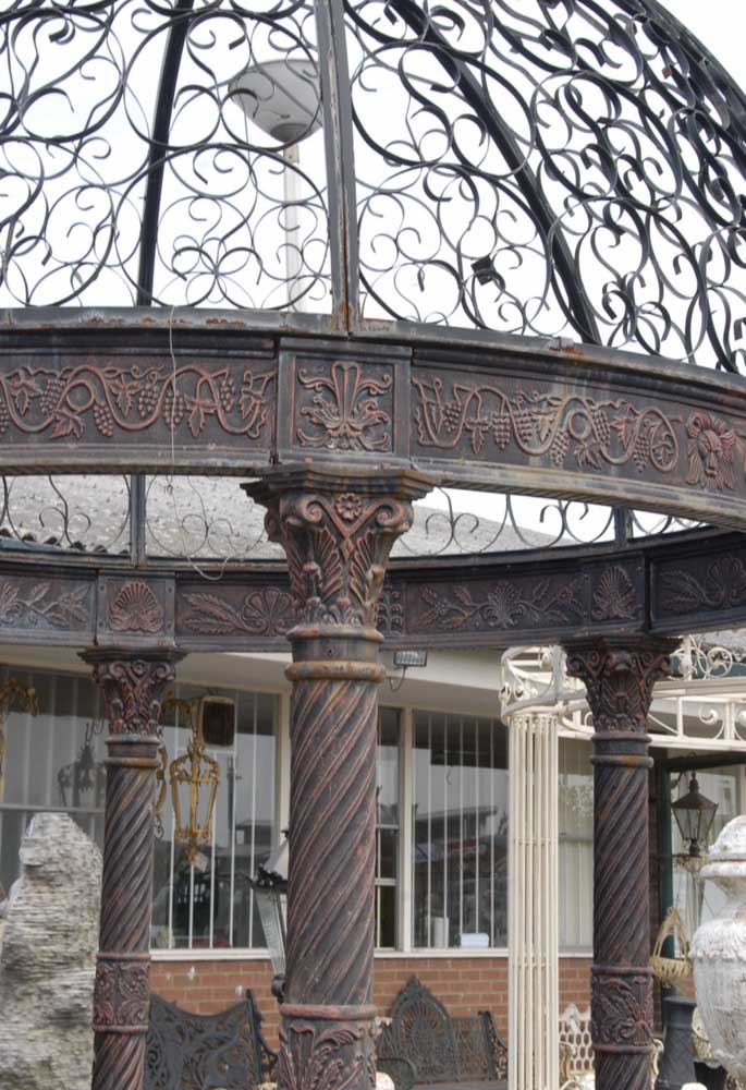 12 Foot English Victorian Cast Iron Gazebo Architectural