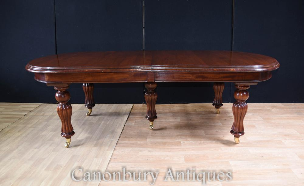 12 foot english victorian mahogany dining table for 12 foot table