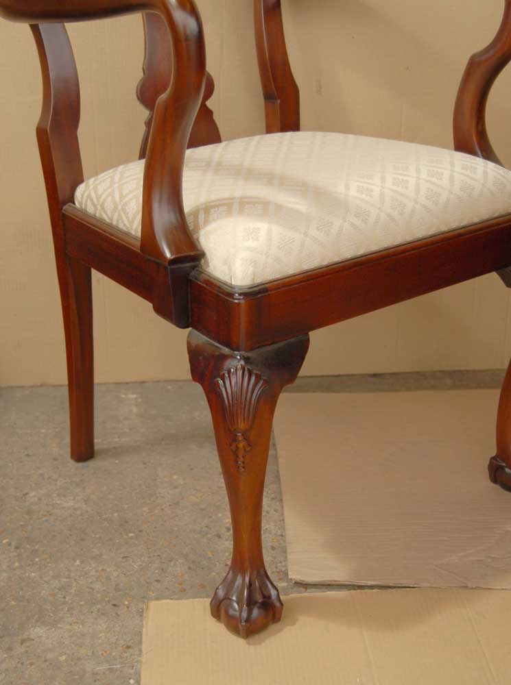 14 Foot Victorian Dining Table 10 Queen Anne Chairs
