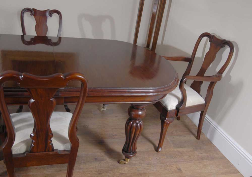 14 Foot Victorian Dining Table Amp 10 Queen Anne Chairs
