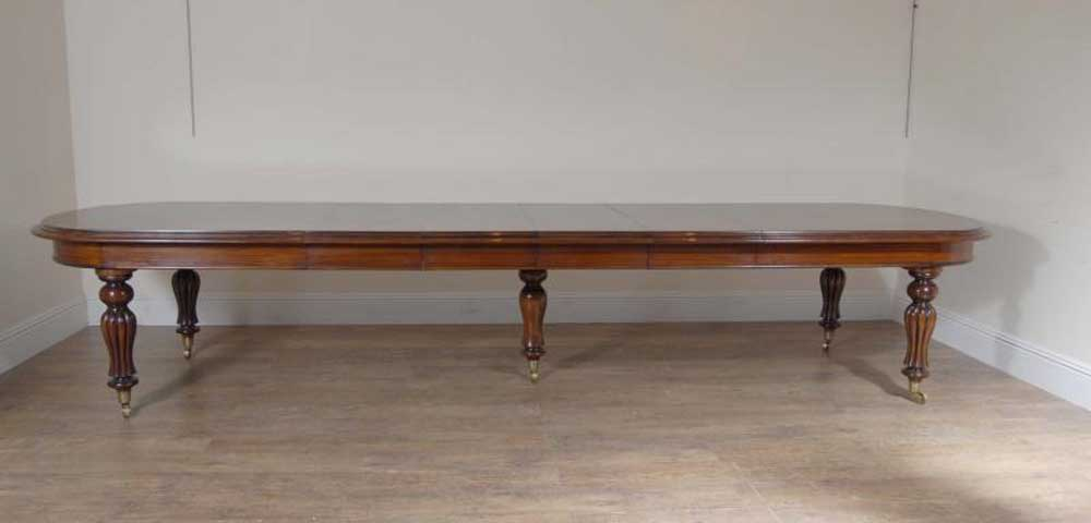 Victorian Dining Table - Large Extending Mahogany Diner 14 Foot Long ...