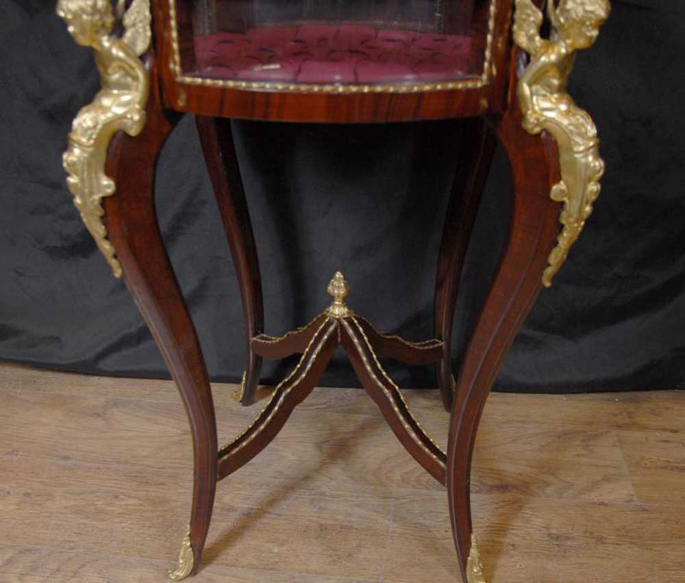 2 French Empire Jewellery Display Cabinets Tables