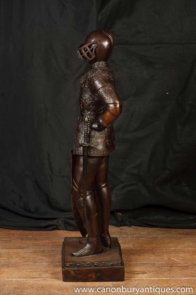 3ft Bronze Knight Statue Sculpture Crusades Templar Art