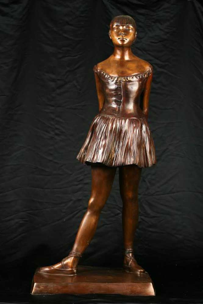 3ft Bronze Degas Ballerina Girl Statue Figurine