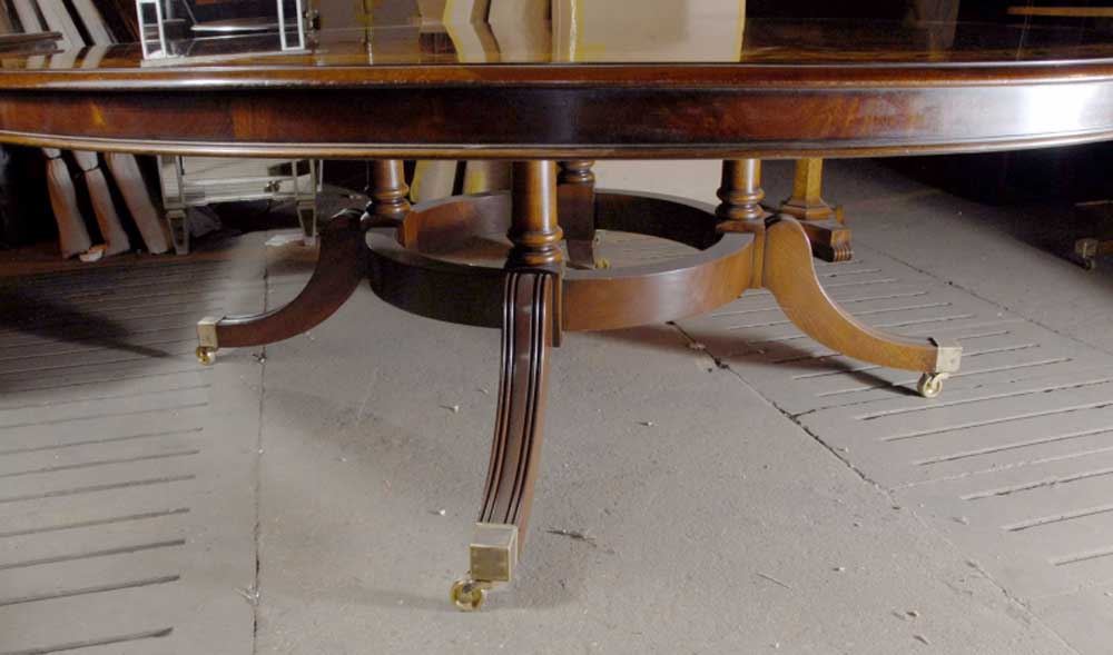5 ft english victorian round dining table in santos ros ebay for 6 foot round dining table