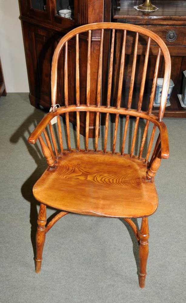 6 Windsor Bow Back Kitchen Dining Chairs Windsors