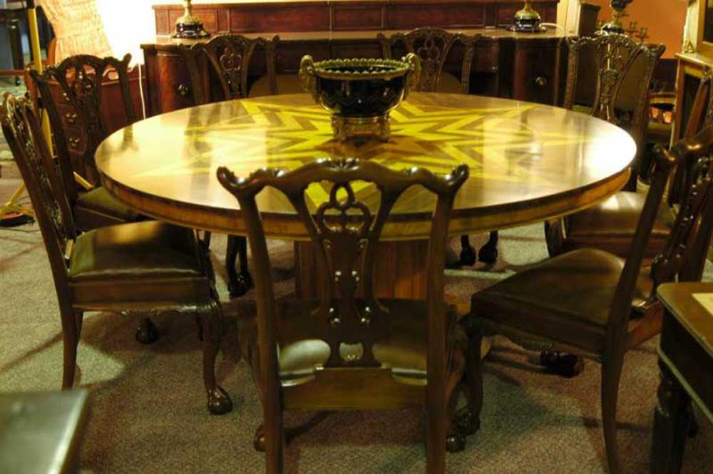6ft art deco inlay round dining table tables for 6ft round dining table
