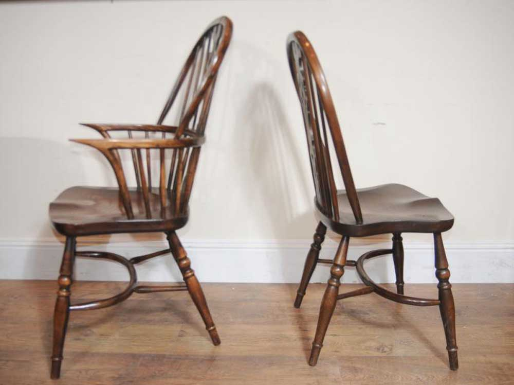 10 antique windsor kitchen dining chairs set ebay