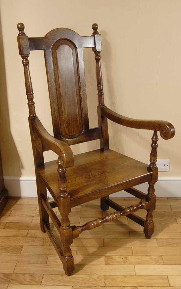 & Oak Dining Chairs - William and Mary Farmhouse Kitchen Gothic | eBay