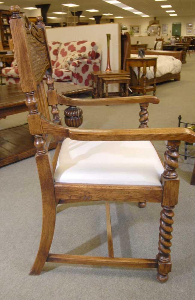 8 English William Mary Rustic Dining Chairs Barley Twist