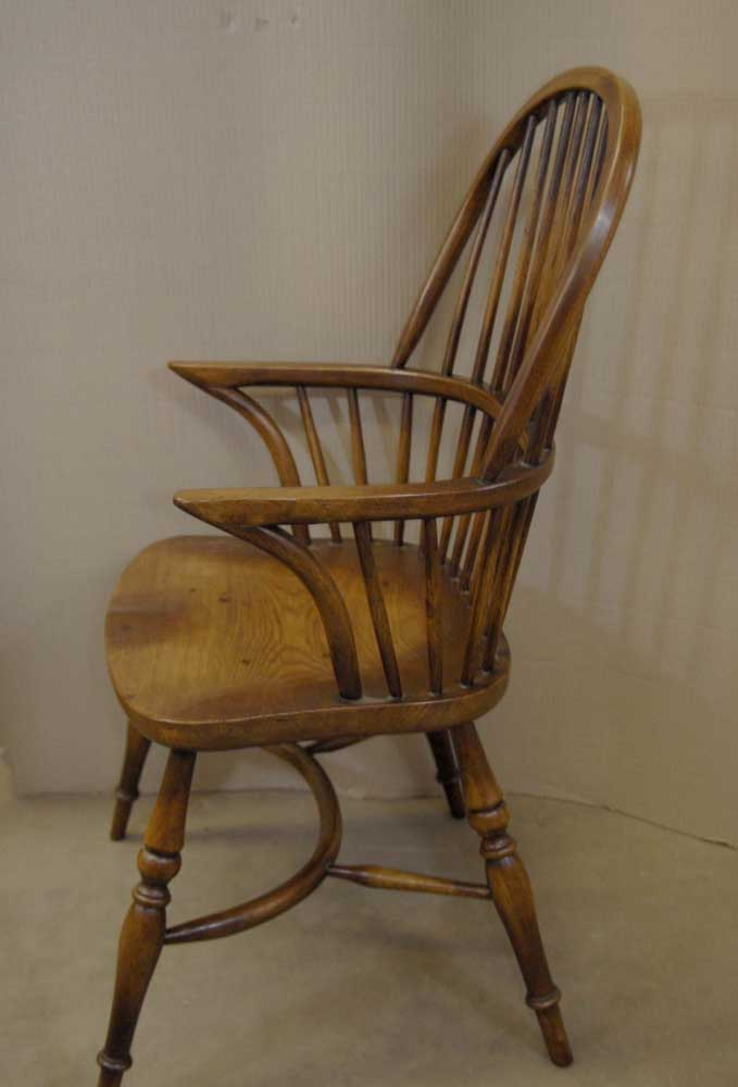 yew dining room furniture | 8 Farmhouse English Windsor Dining Chairs Oak