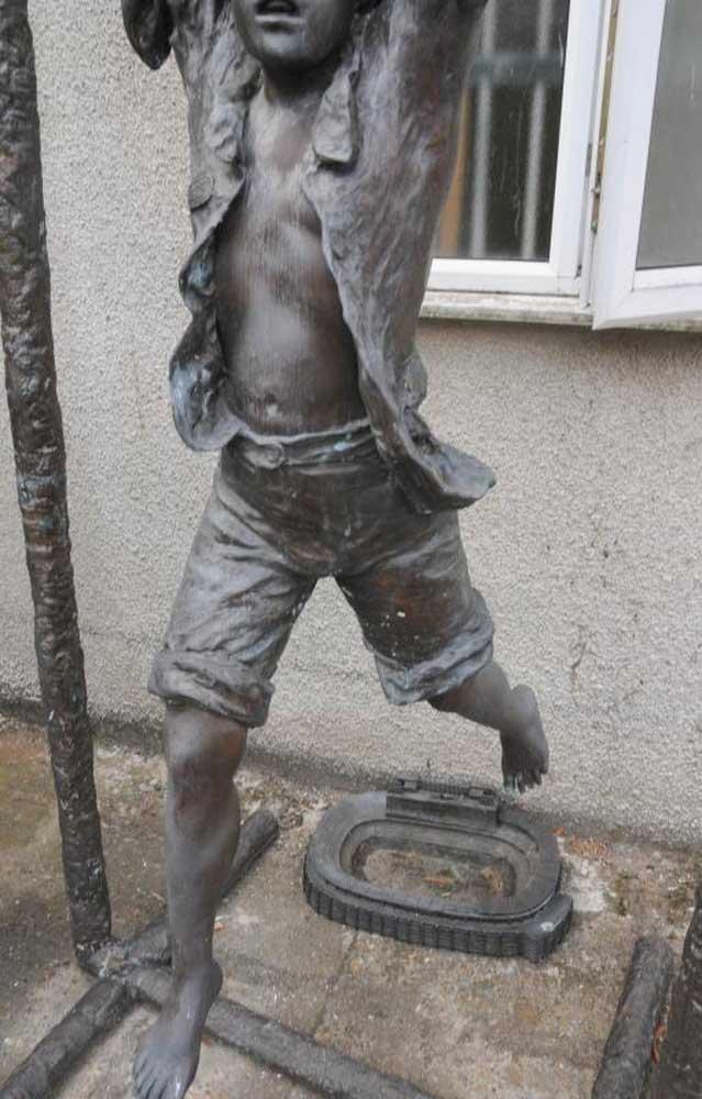 Joe For Oil >> 8 ft Bronze Swing Boy Sculpture Garden Statue