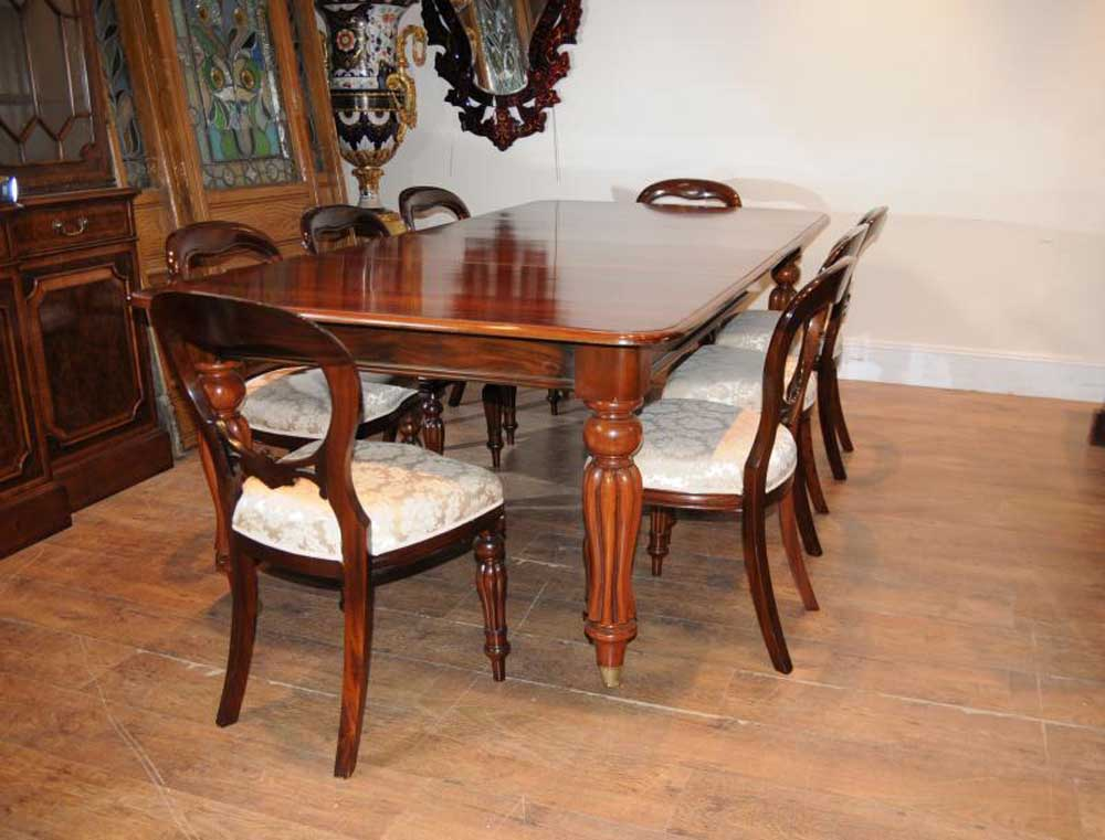 8 Chair Round Dining Room Set