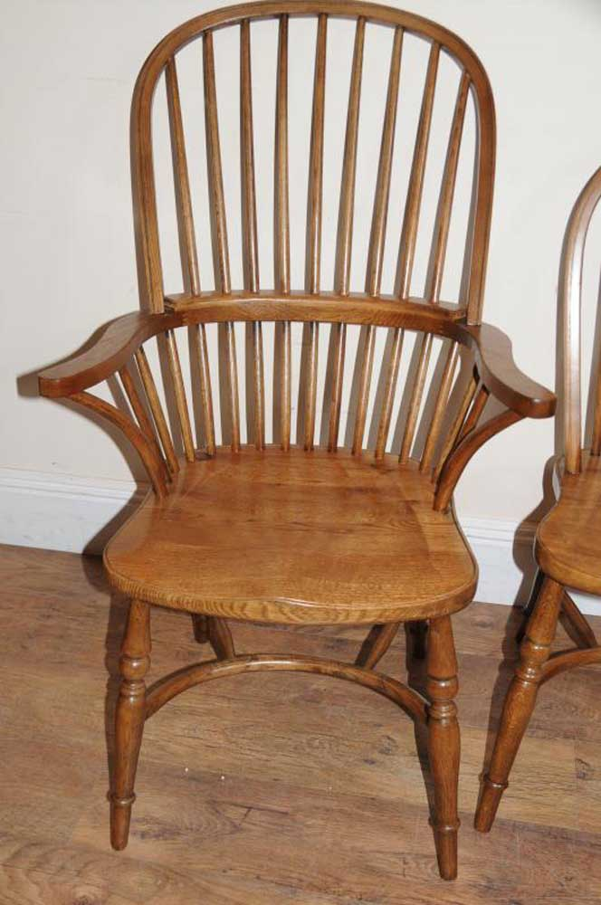 Oak windsor kitchen dining chairs farmhouse chair
