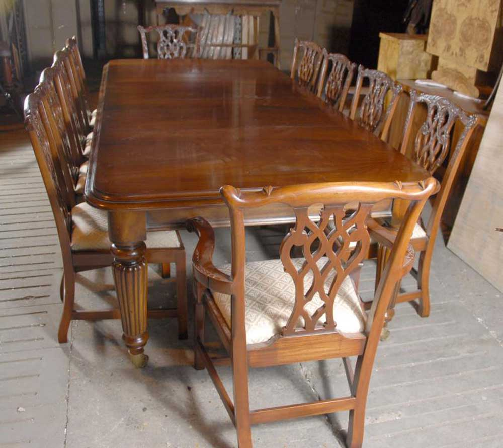 Victorian Dining Table: 9 Foot English Victorian Dining Table Tables