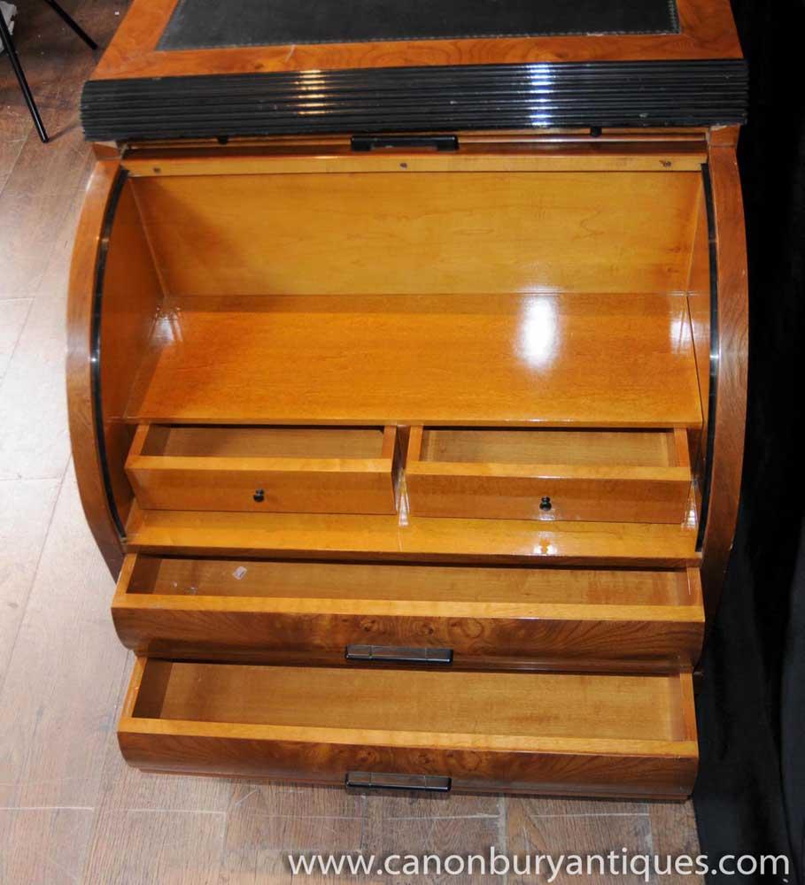 antique 1920s art deco pedestal desk writing table bureau. Black Bedroom Furniture Sets. Home Design Ideas