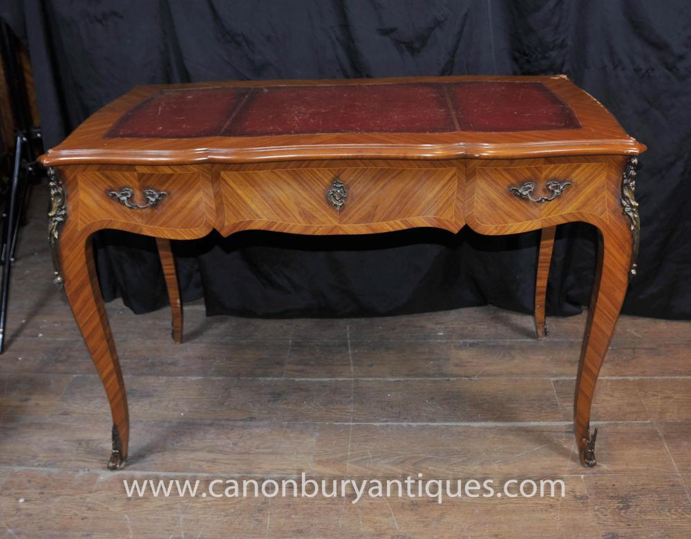 Antique french empire bureau plat writing table extending desk for Bureau french