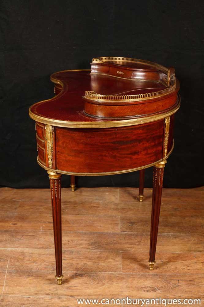 Queen Anne Desk >> Antique French Empire Desk Kidney Bean Desks 1885