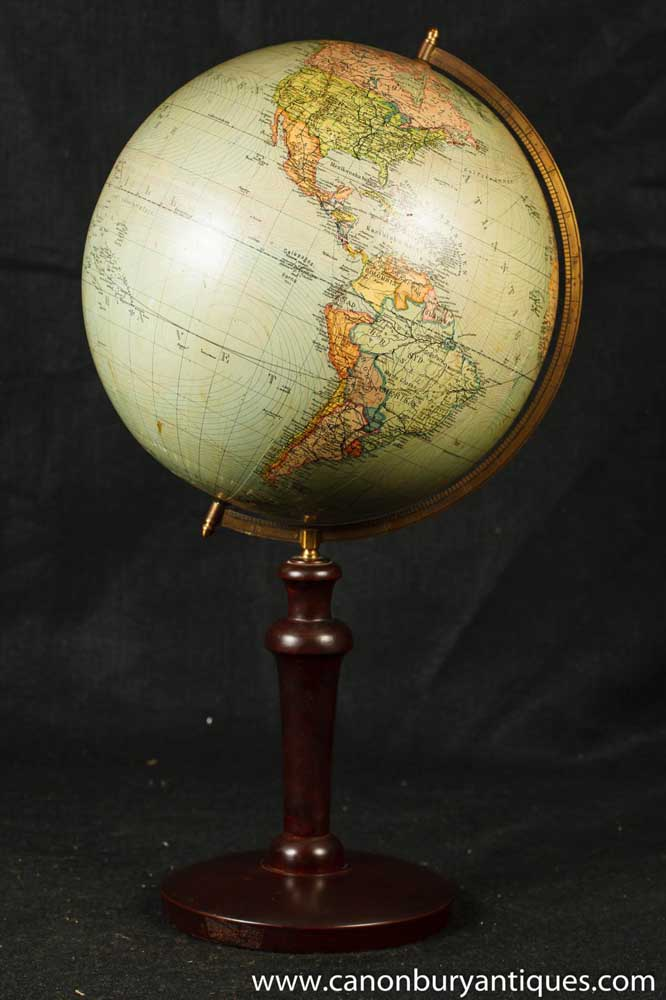 Antique swedish world globe map mahogany stands gumiabroncs Image collections