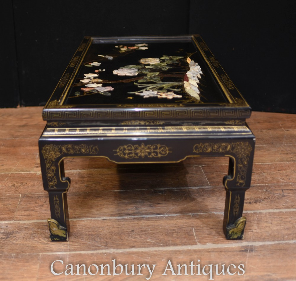 - Antique Chinese Coffee Table - Black Lacquer 1920 EBay