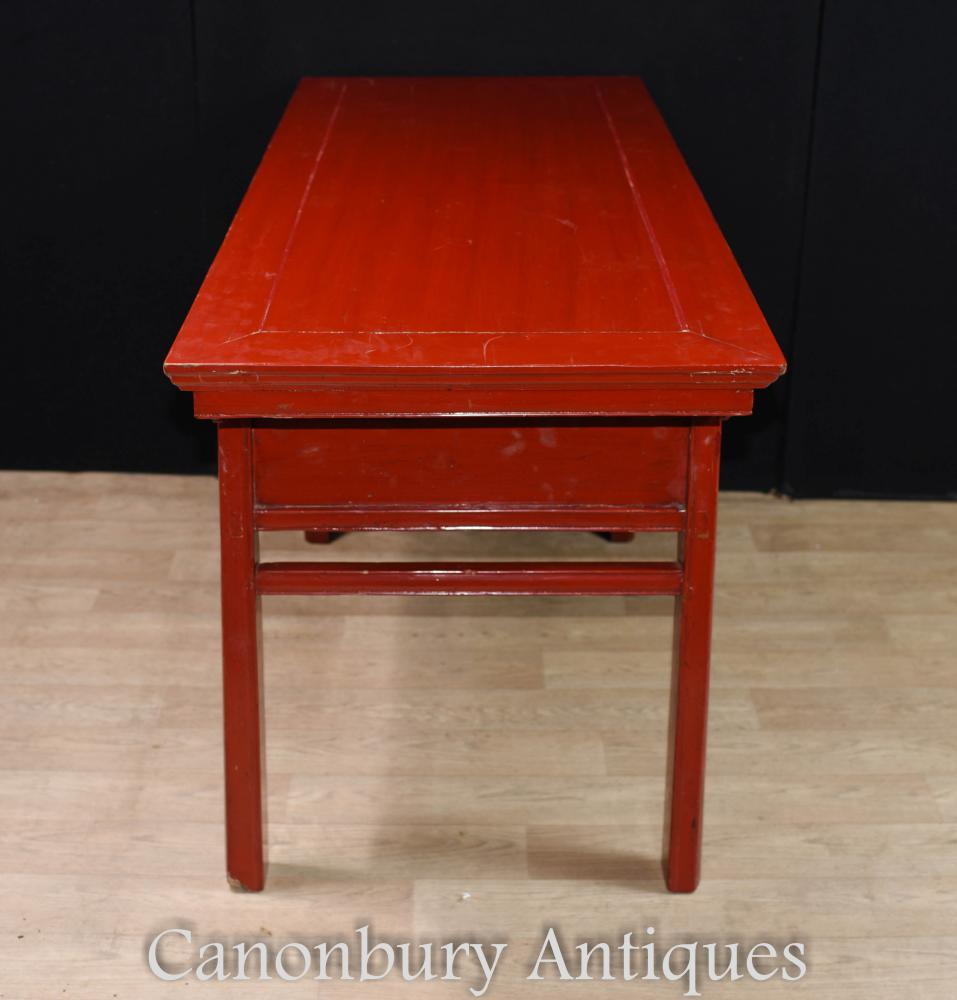 Antique Chinese Red Lacquer Cinnabar Temple Table Altar 1250 Usd 1620