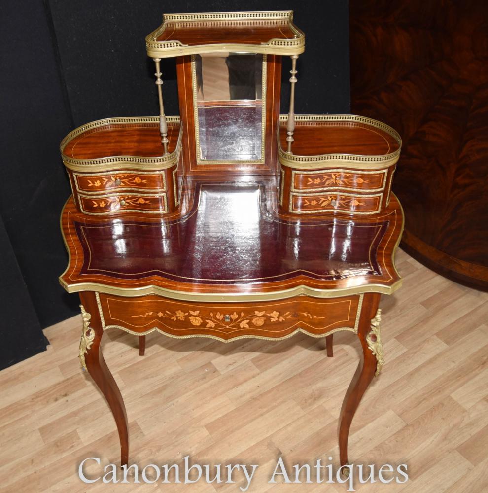 SHIPPING QUOTE - Antique Empire Bureau De Dame Ladies Desk Writing Table 1880