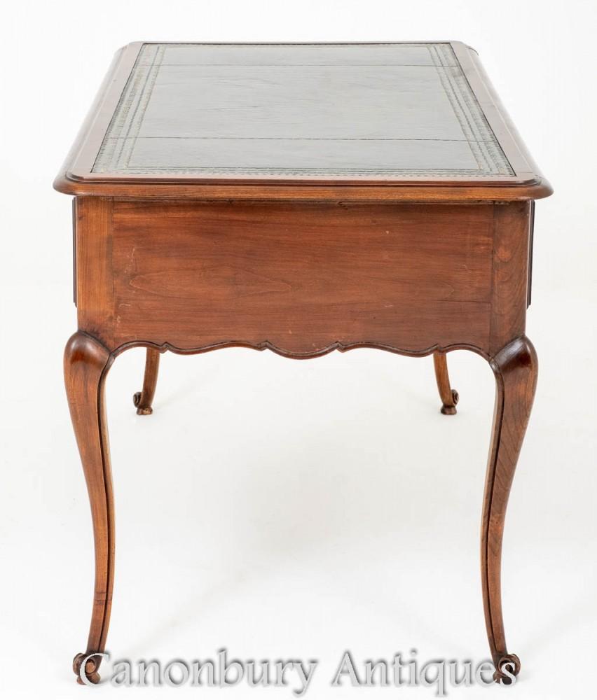 Antique French Desk Cherry Wood Writing Table Bureau
