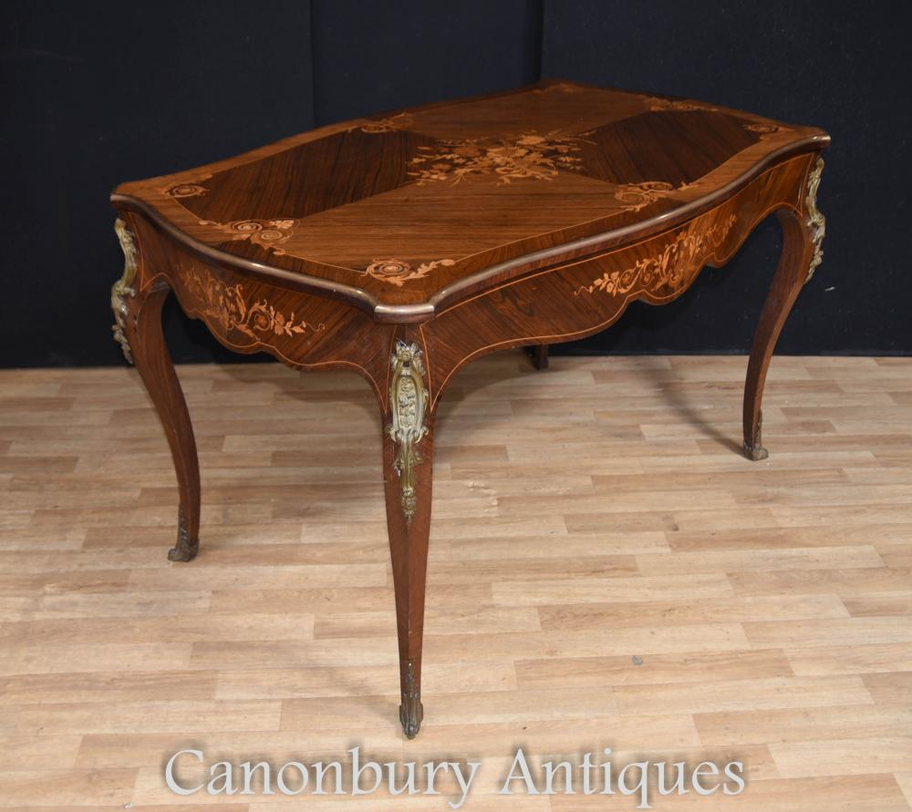 Antique french empire bureau plat desk library table for Bureau in french