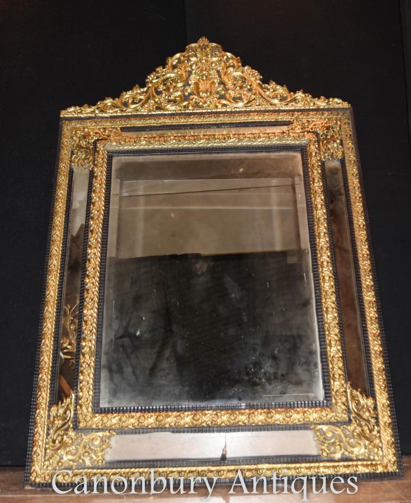 Antique french rococo cushion mirror gilt pier mirror 1880 for Antique french mirror