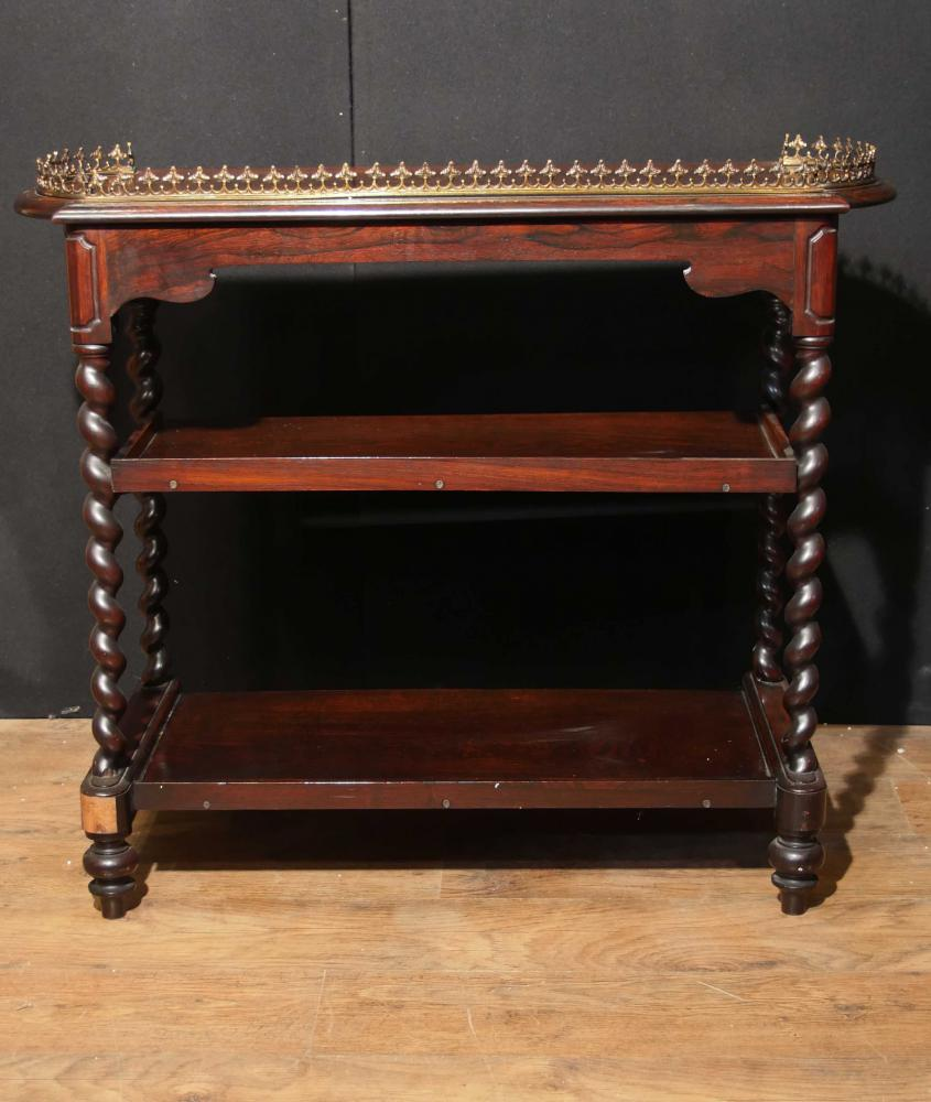 Antique Regency Whatnot Table Sideboard Rosewood Candy