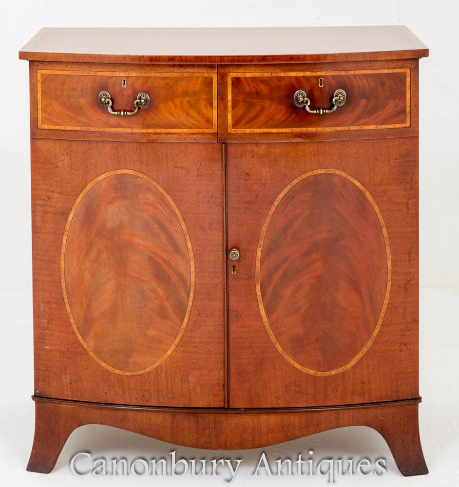 Additional Images - Antique Sheraton Side Cabinet In Mahogany EBay