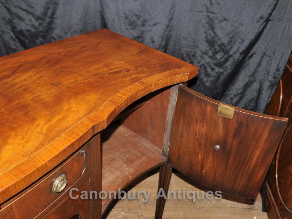 Antique Sheraton Sideboard Server Buffet Flame Mahogany 1920s   eBay