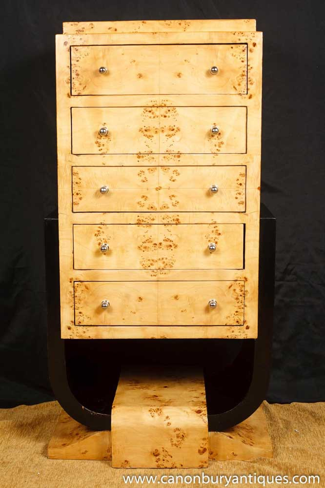 art deco chest drawers commode 1920s furniture. Black Bedroom Furniture Sets. Home Design Ideas