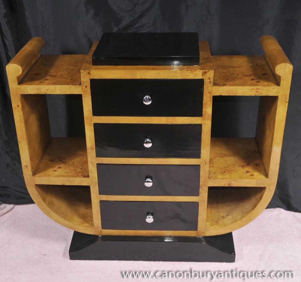 art deco chest drawers commode 1920s walnut furniture. Black Bedroom Furniture Sets. Home Design Ideas