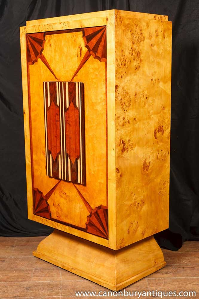 Art Deco Cocktail Cabinet Drinks Chest 1920s Furniture
