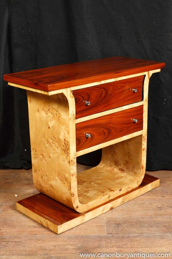 Art deco commode chest drawers console table - Console commode ...
