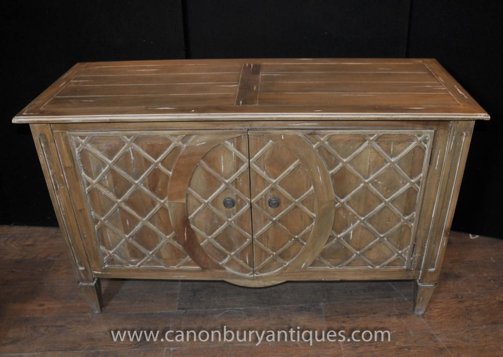 Art deco commode sideboard server chest drawers buffet for Commode miroir art deco