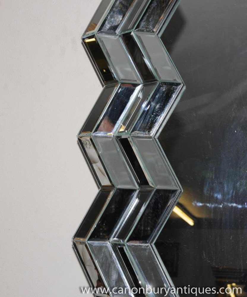 art deco glass crinkle mirror mirrors 1920s. Black Bedroom Furniture Sets. Home Design Ideas