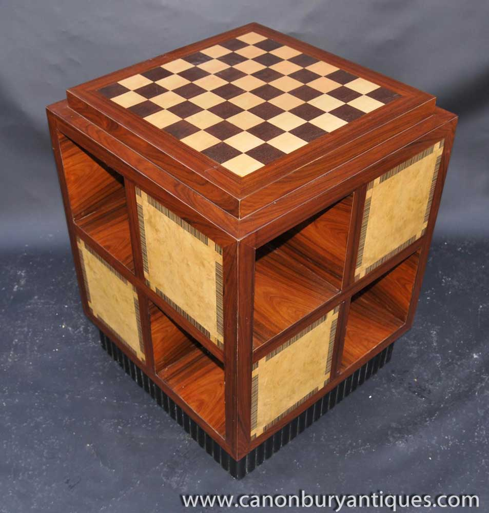 Art Deco Side Table Chess Games Tables Furniture