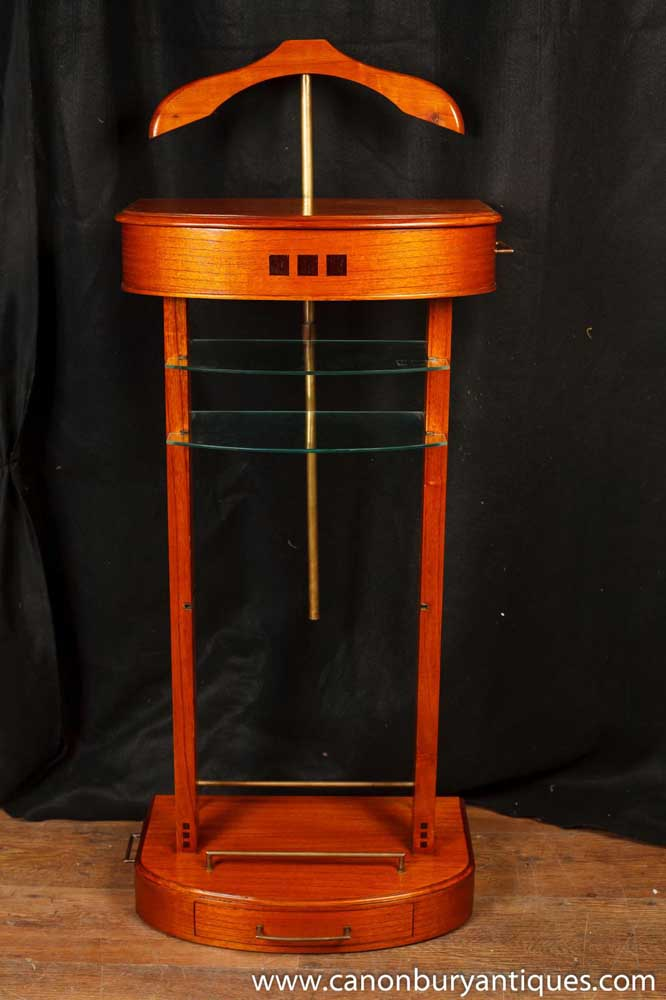 Art deco valet stand butler satinwood for Stand expo deco