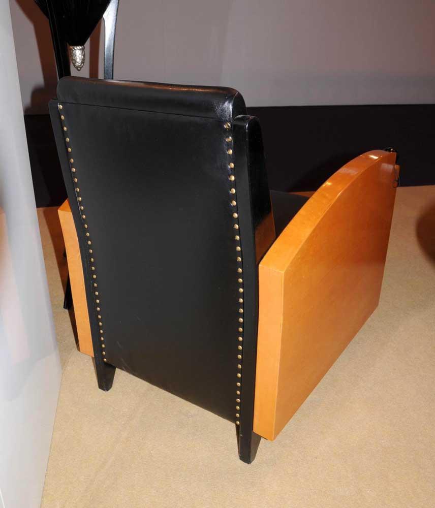 Art Deco Walnut Club Chair Biedermeier Sofa Seat 1920s