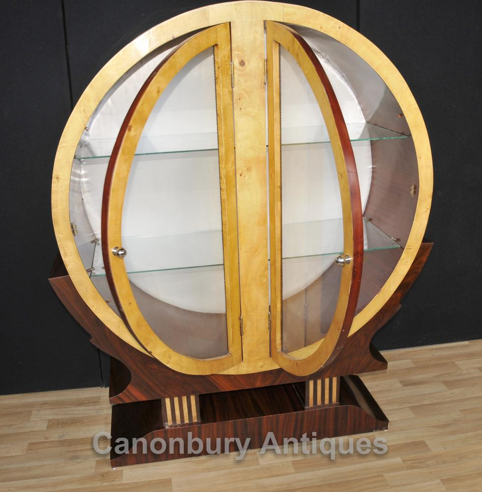 art deco bookcase glass display cabinet 1920s furniture. Black Bedroom Furniture Sets. Home Design Ideas
