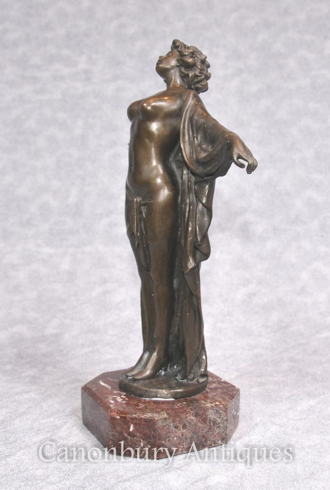Art Deco Bronze Semiramis Dancer Figurine Statue Female Nude | Ebay