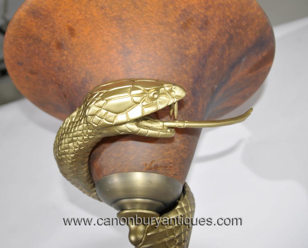 Art Deco Bronze Snake Floor Lamp Edgar Brandt Lights