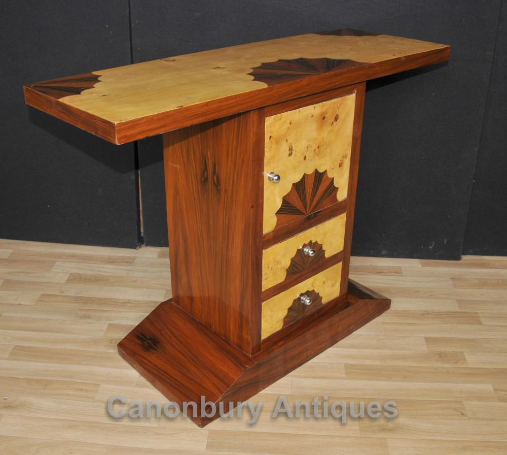 Art Deco Chest Console Table Shell Inlay Furniture Ebay